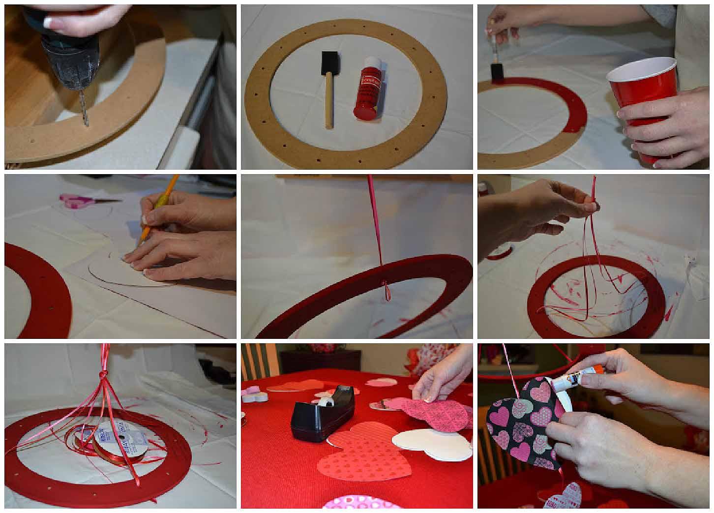 Como hacer un movil con corazones de papel 1024x682 - Como hacer manualidades de papel ...