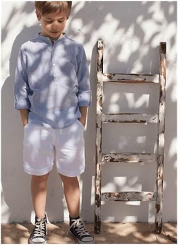 moda infantil: camisa azul -chulakids