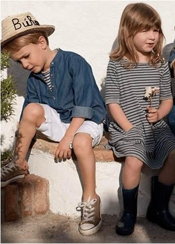 moda infantil: vestido rayas niña -chulakids