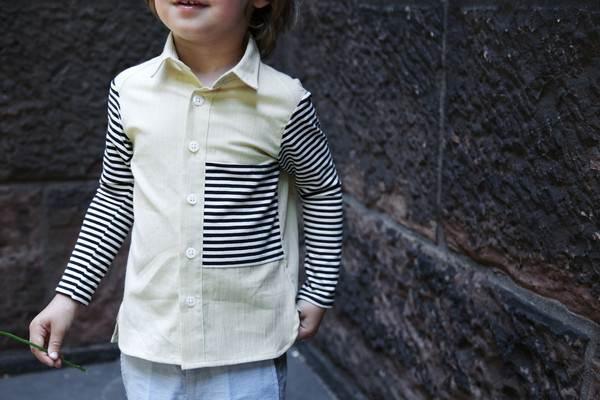 ropa infantil: camisa rayas -chulakids