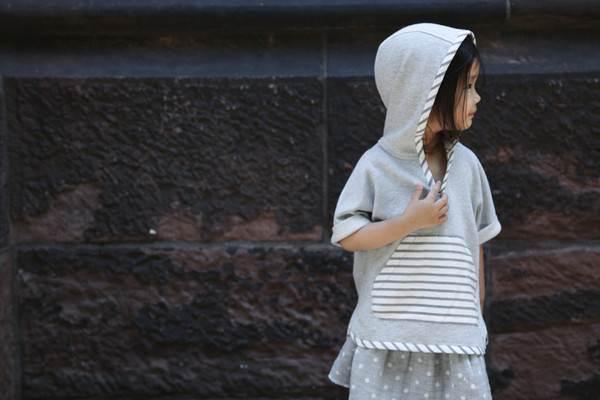 ropa infantil: falda lunares -chulakids