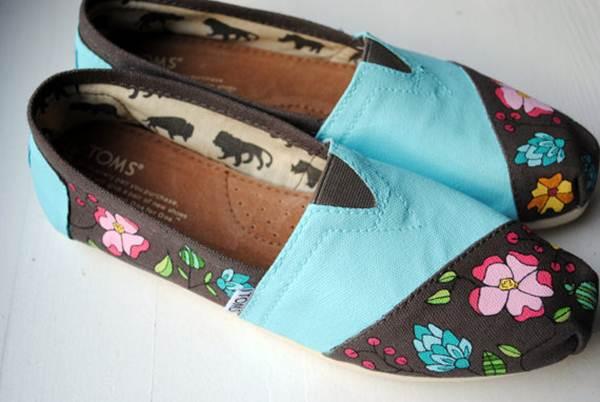 zapatillas de lona: estampado floral