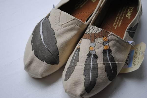zapatillas de lona: estampado plumas