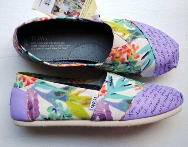 zapatillas de lona: lilas estampado floral