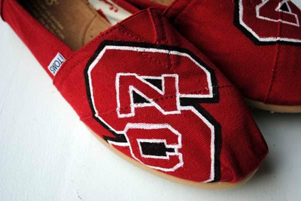 zapatillas de lona: rojas