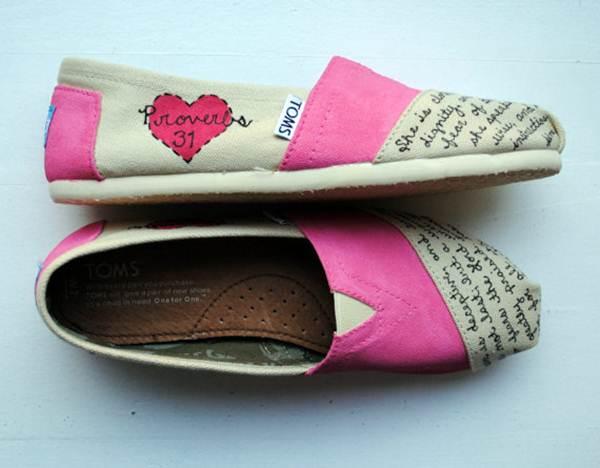 zapatillas de lona: bicolor rosa y blanco