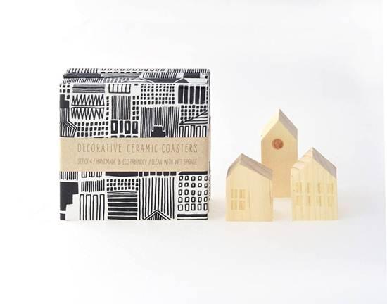 complementos de decoración: ciudades blanco y negro