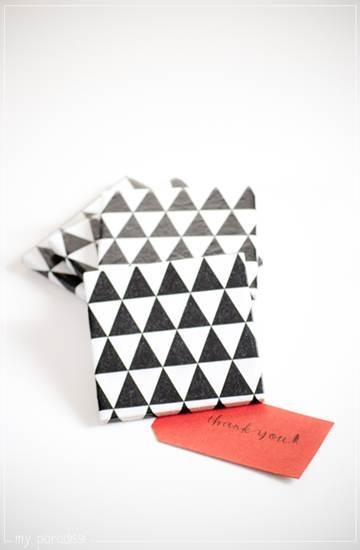 complementos de decoración: triángulos