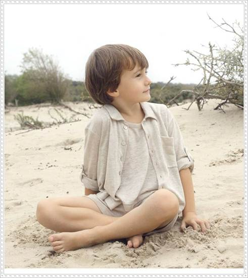 moda infantil: camisa enganche codo