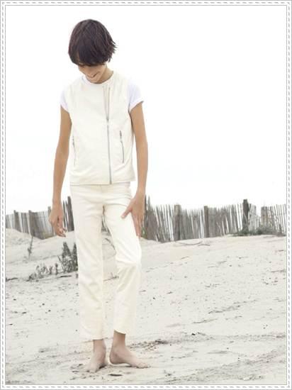 moda infantil: conjunto blanco