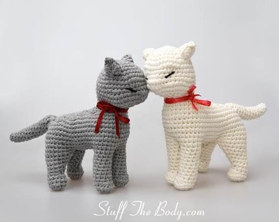 muñecos de ganchillo: gatitos