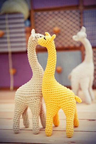 muñecos de ganchillo: jirafas