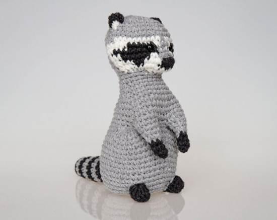 muñecos de ganchillo: mapache