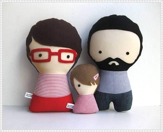 muñecos de trapo: padres