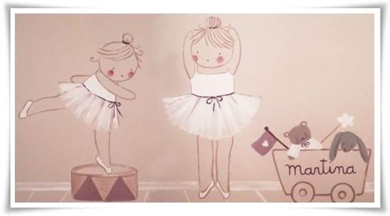 murales infantiles: bailarinas