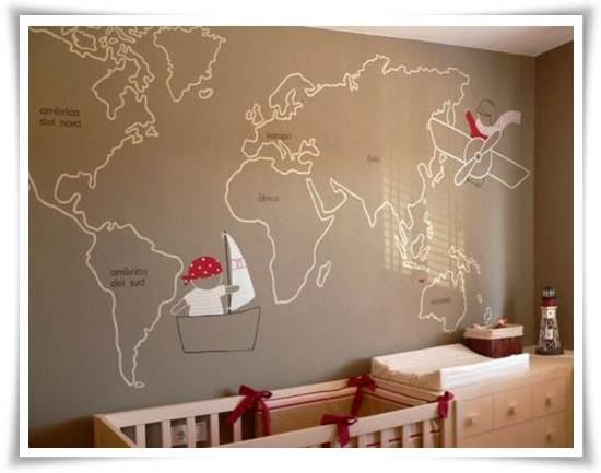 murales infantiles: mapa mundi
