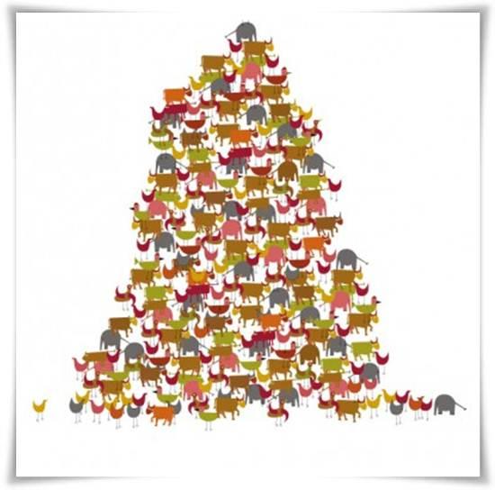 murales infantiles: torre de animales