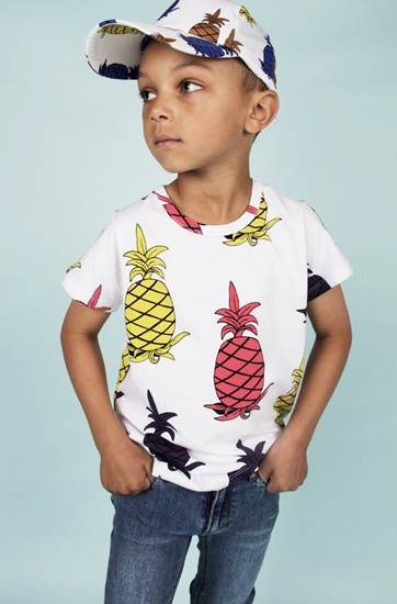 ropa infantil: camiseta piñas multicolor