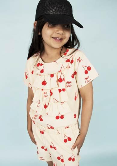 ropa infantil: mono corto cerezas