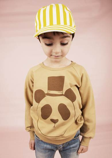 ropa infantil: sudadera oso panda