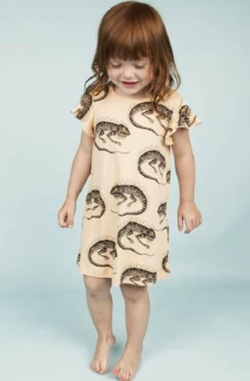 ropa infantil: vestido camaleones