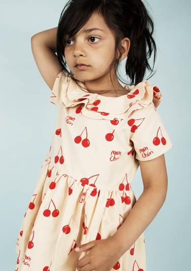 ropa infantil: vestido cerezas