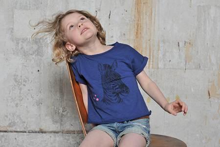 ropa para niños: camiseta azul cebra