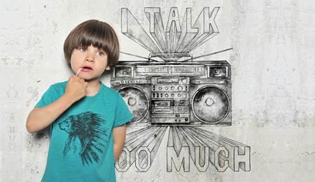 ropa para niños: camiseta celeste indio
