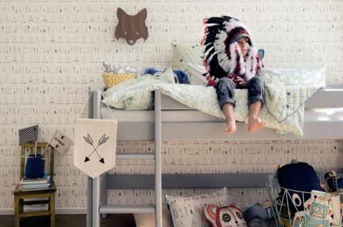 decoración chula de habitación en Ferm Living