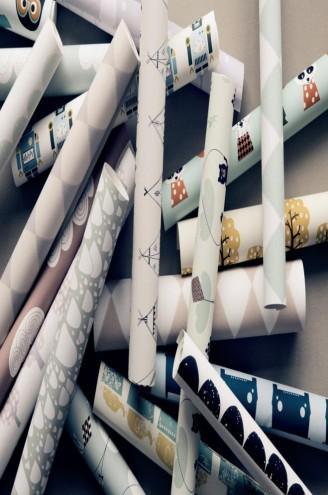 papel pintado estilo noruego en Ferm Living