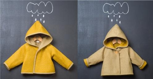 abrigo reversible de otoño en popelin