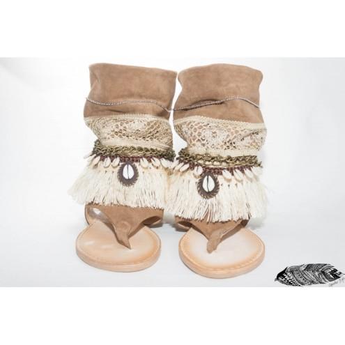 sandalia de diseño apache