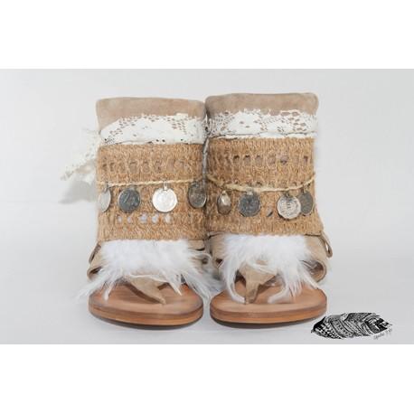 sandalia indie de estilo apache