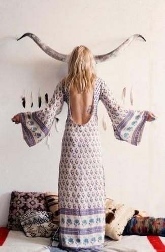 vestido hippie largo en Spell Desings