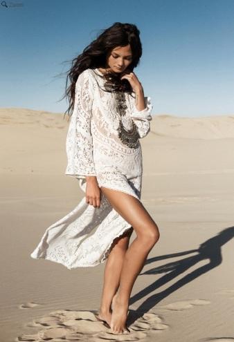 vestido bohemio largo en spell desings