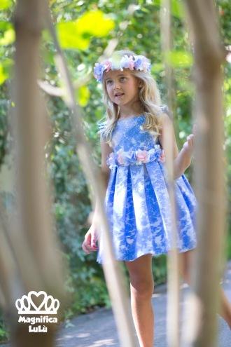 vestido azul de magnífica lulú