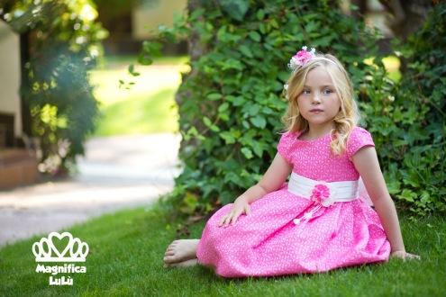 vestido rosa de magnífica lulú