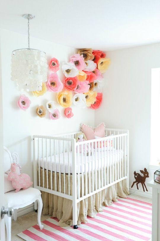 habitaciones para niños con flores