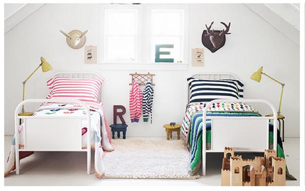 habitaciones compartidas niños niña chula kids