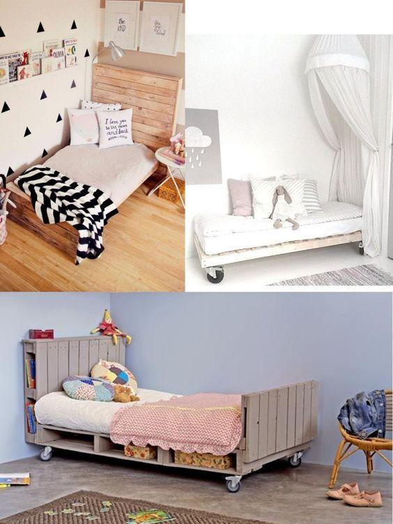 Habitaciones infantiles con palets for Camas infantiles con palets