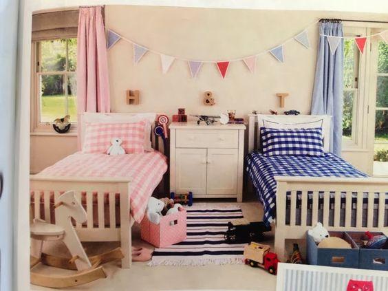 habitaciones infantiles compartidas chico chica