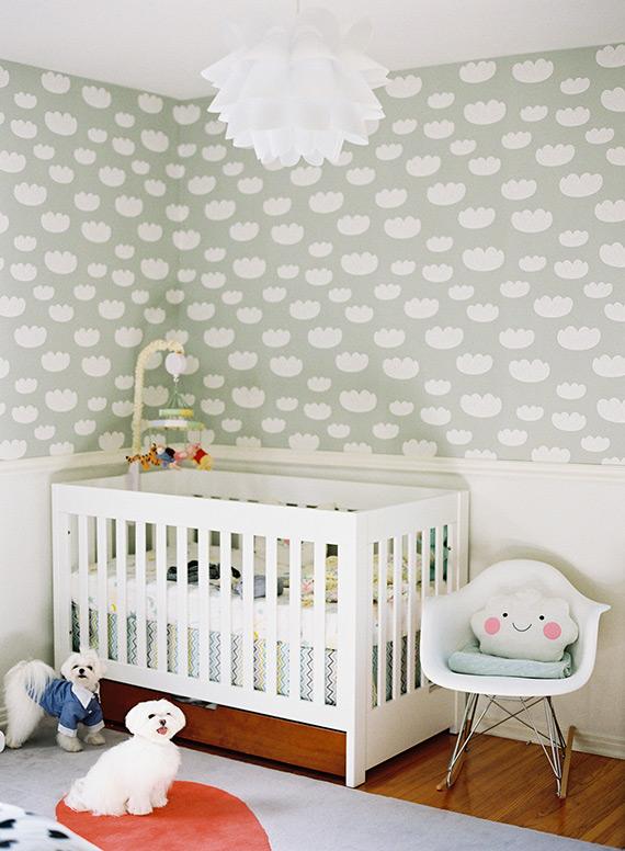 Accesorios chulos para habitaciones infantiles en forma de nube - Papel pintado habitacion bebe ...